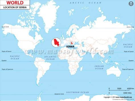 where is serbia on a world map where is serbia map