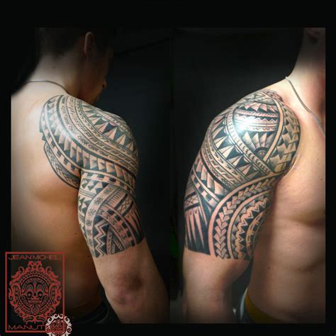 tatouage polynesien polynesian tattoo maori shoulder