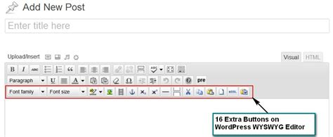 wordpress theme editor visual add more buttons to wordpress visual editor with tinymce