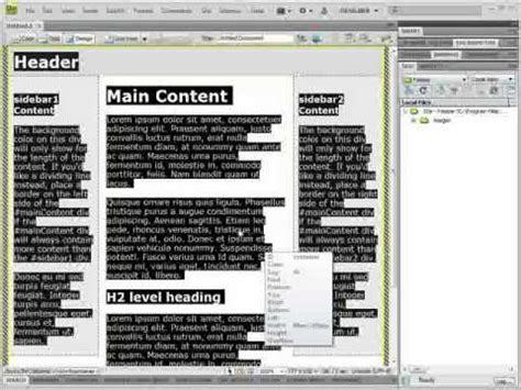 how to use templates in dreamweaver how to use templates in adobe dreamweaver cs4 cs3
