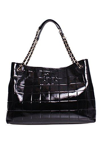 Burch Patent Leather Tote by Burch Marion Quilted Patent Leather Tote In Black