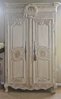 sold antique shabby chic french armoire by theyardleycottage