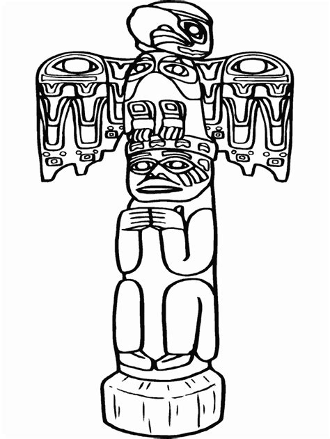 Totem Pole Coloring Pages