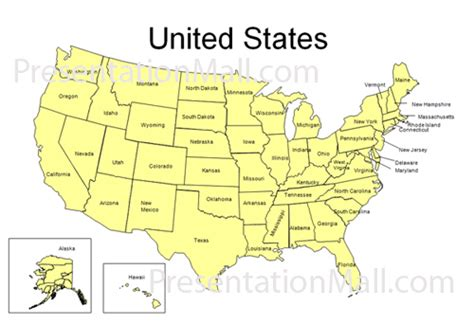 United States Powerpoint Map State Of The Presentations