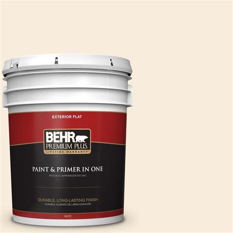 behr premium plus ultra 5 gal ppu6 9 polished pearl flat exterior paint 485005 the home depot
