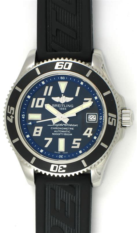 Breitling Superocean Abyss 42mm On Black Rubber breitling superocean 42mm a17364 bernard