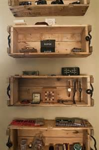 Crates As Bookshelves Wooden Crate Wall Shelves Furniture Recycled