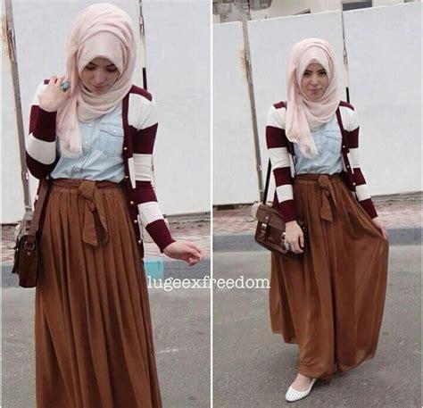 Hasna Maroon muslimah fashion style inspiration skirts maxi skirts back to