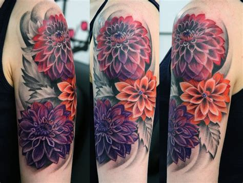 dahlia flower tattoo designs dahlia tats dahlias tattoos and