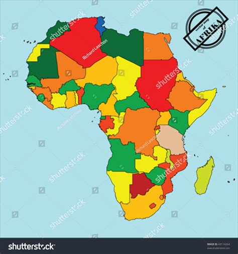 africa map easy political map of africa in colors easy to edit copy