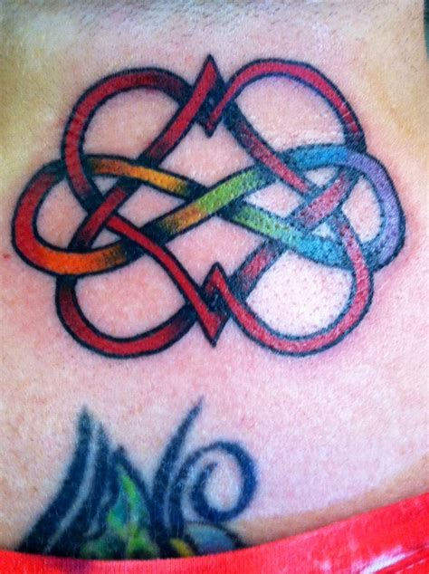 double heart tattoo infinity i think this might actually be my