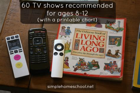 for ages 8 12 60 tv shows recommended for ages 8 12 with a printable