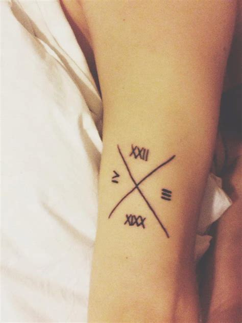 latin date tattoo 17 awesome roman numeral tattoos designs sheideas
