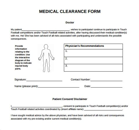 clearance form template sle clearance form con artists using