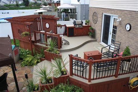 patio deck art designs   traditional deck