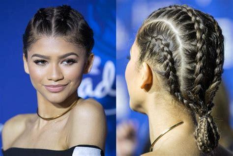 zendaya hairstyles braids best 25 two french braids ideas on pinterest two dutch