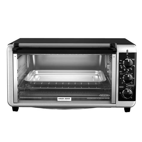 Black And Decker Countertop Oven by Black Decker To3250xsb 8 Slice Wide Toaster Oven Black Silver Ebay