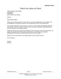best photos of client thank you letter template thank