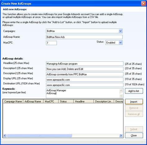 pay per click bid management ppc pay per click bid management software for add adgroups