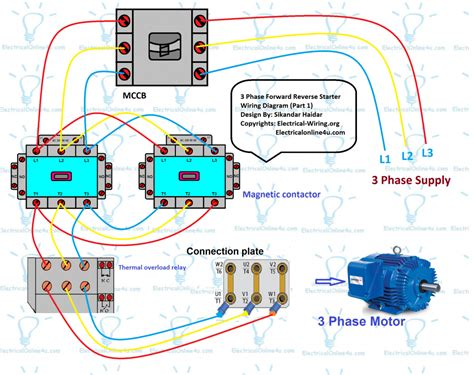 3 phase electrical circuit diagram electrical free