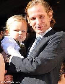 Andrea casiraghi actually married up wife of monaco royal heir
