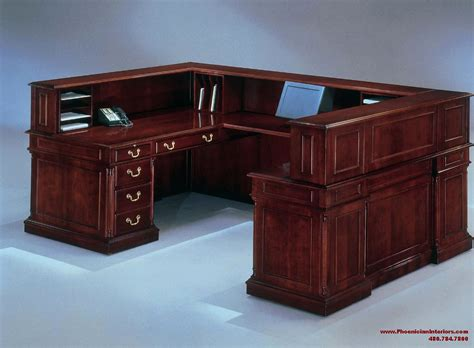 u shaped reception desk u shaped desk ridgeley ushaped desk with bookcase and