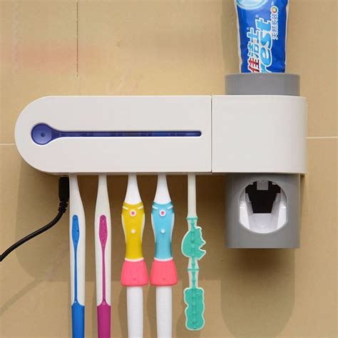 Dispenser Odol tempat sikat gigi dispenser odol antibacteria uv light