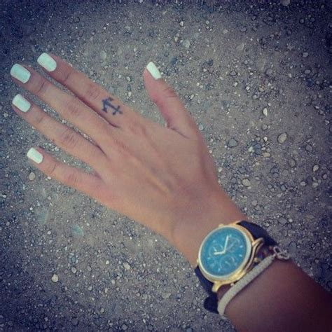 girly finger tattoos 1000 ideas about anchor finger tattoos on
