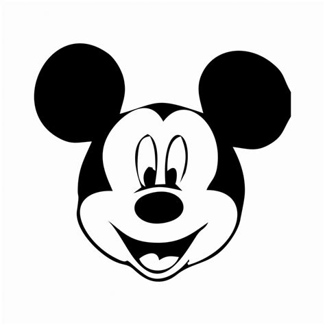 mickey mouse face template clipart best