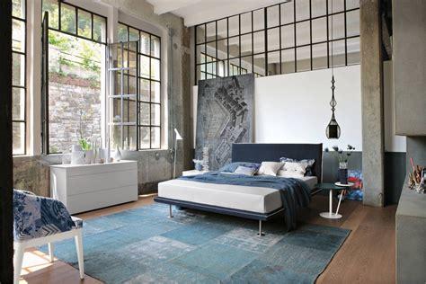 trendy industrial bedroom design  gray  white color