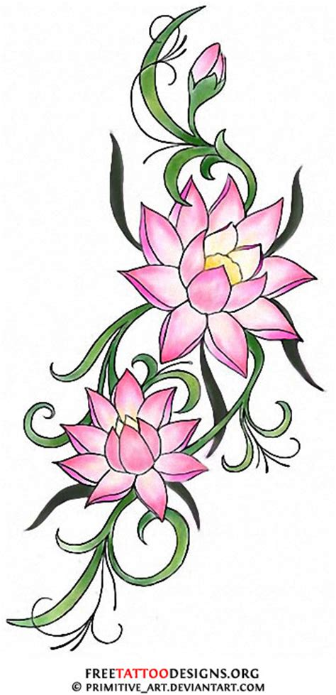 japanese lily tattoo designs 90 lotus flower tattoos