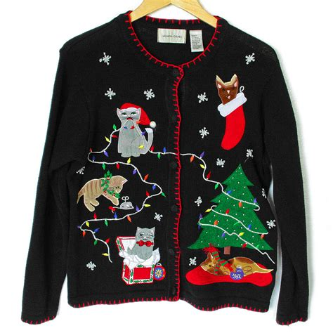 Lovely Hunting Christmas Stockings #2: Deformed-Kitties-and-Grumpy-Cat-Tacky-Ugly-Christmas-Sweater.jpg
