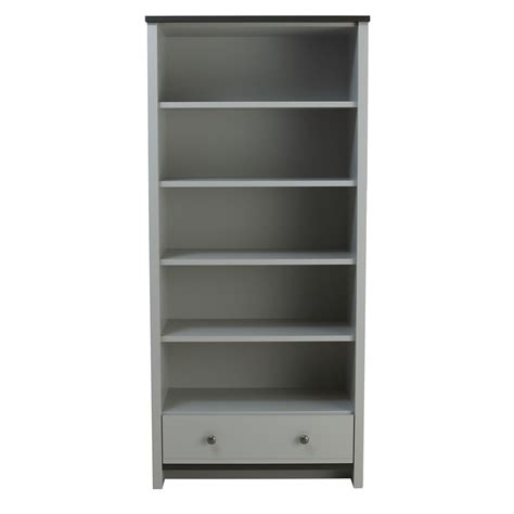 clovelly large bookcase grey at wilko