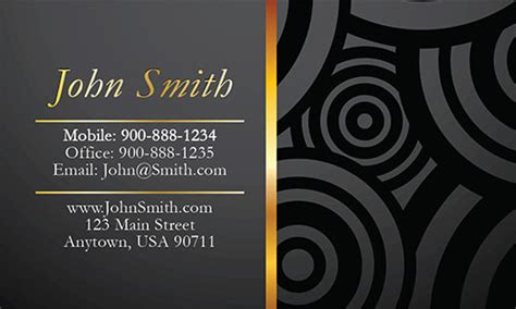 personal business card template unique business cards