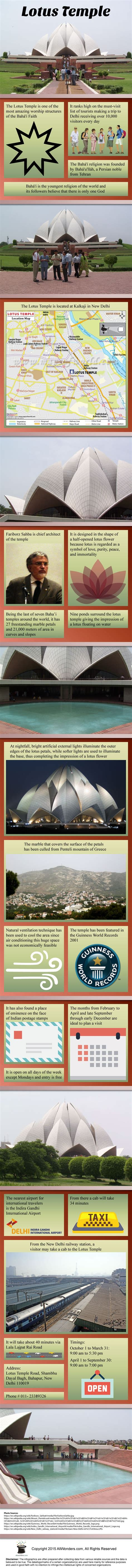 Lotus Temple Facts Lotus Temple Infographic Travel Infographic On Lotus Temple