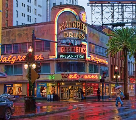 Clna Strit New Orleans Louisiana Canal Walgreens Neon Sign