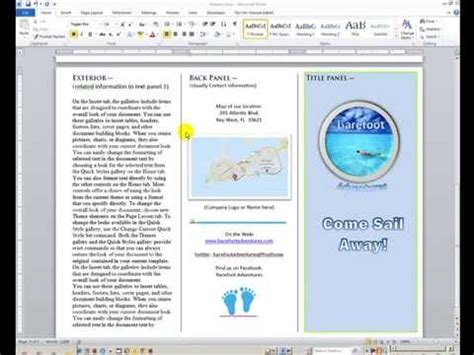 leaflet design on word word how to create and design a brochure youtube