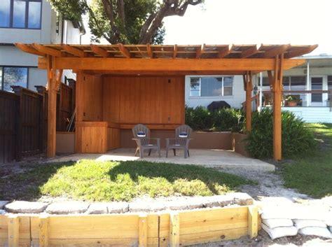 metal roof pergola cypress pergola with a metal roof designed and built by finewood studio finewood studio