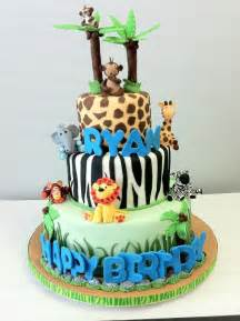 you have to see safari baby shower cake on craftsy