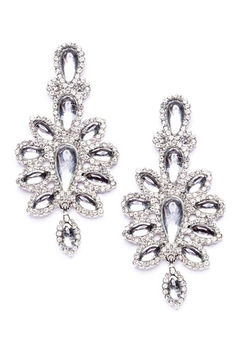 royal ambition statement earrings in silver happiness