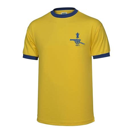arsenal away shirt arsenal 1971 fa cup final away retro shirt official
