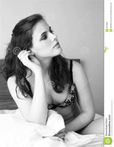 pretty girl in bed royalty free stock image image 2373056