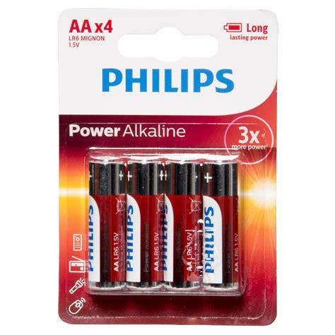 Philips Alkaline Aa Bp2 Berkualitas philips powerlife lr6 alkaline battery aa 1 5v 4 pieces environment responsible ebay