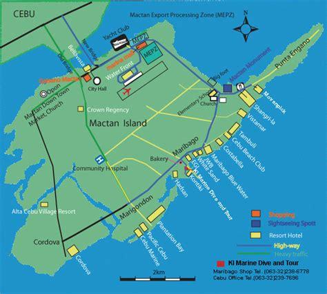 pado resort cebu map mactan island drive map
