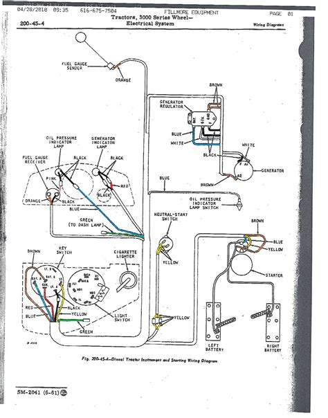 wiring diagram deere 4020 the knownledge