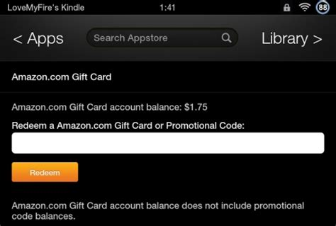 Kindle Fire Gift Cards - how to use amazon gift card
