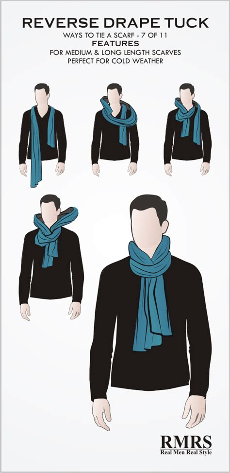 Should I Wear A Tie For Mba by How To Tie A Scarf Drape Tuck Knot Infographic