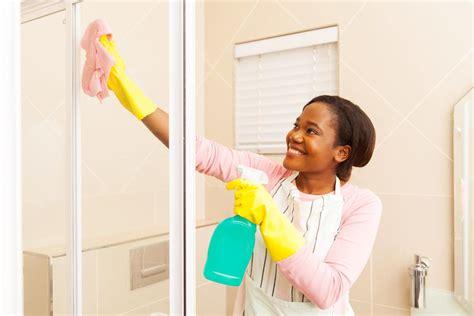 household hacks    clean soap scum   shower door