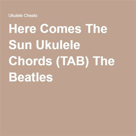 ukulele tutorial here comes the sun 1718 best uke images on pinterest guitar lessons music