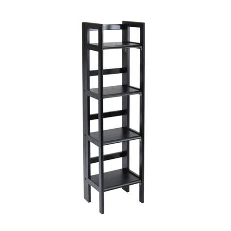 winsome wood folding bookcase winsome wood 4 tier folding shelf black 20852